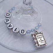 Once Upon A Time Book Personalised Wine Glass Charm